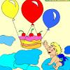 Kids coloring Happy birthday jeu
