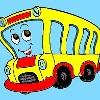 Enfants Coloriage Bus jeu