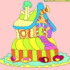 Enfants Coloriage maison de pain d'épice jeu