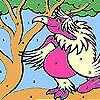 Coloriage perroquet rose Lady jeu
