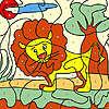 Petit lion à colorier jeu