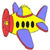 Petit Coloriage avion jeu
