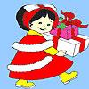 Petit coloriage de cadeau anniversaire fille jeu