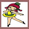 Petite ballerine à colorier jeu