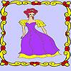 Princesse solitaire dans la coloration du Palais jeu