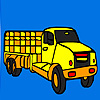 Coloriage camion long village jeu