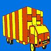 Coloriage de camion longue route jeu
