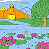 Coloriage jardin Lotus jeu
