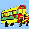 Coloriage bus long pays jeu