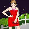 Lucy en robe rouge jeu