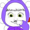 Moustache de Masha Coloriage jeu