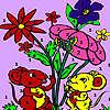 Souris dans la coloration jardin jeu