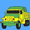 Military green trucks coloring jeu