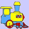 Coloriage du petit train vert jeu