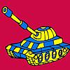 Coloriage voiture char militaire moderne jeu