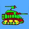 Coloriage tank militaire moderne jeu