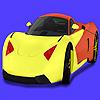 Coloriage de voiture de concept moderne jeu