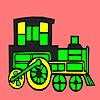 Modern locomotive car coloring jeu