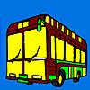 Coloriage bus ville moderne jeu