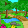 Coloriage de paysage de nature jeu