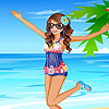 Nelly at the sea dress up jeu