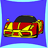 Nouveau coloriage de voiture de concept jeu