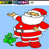gentil père Noël à colorier jeu