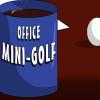 Mini golf de bureau jeu