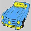 Coloriage de voiture supérieure ouverte plus ancienne jeu