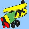 Coloriage d'avion ouest vieux jeu