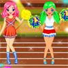 Jeux olympiques pom-pom girls
