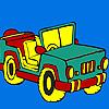 Open top jeep coloring jeu