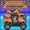 Course de moto orange jeu