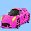 Coloriage voiture magnifique rose jeu