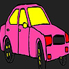 Coloriage de taxi ville rose jeu