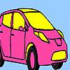 Pink personal car coloring jeu