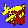 Podgy aircraft coloring jeu
