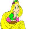 Princess Has a Long Hair Coloring jeu