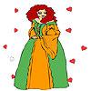 Princesse à la coloration de feu d'artifice de coeur jeu