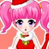 Jolie fille joli Noël jeu