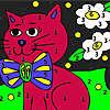 Coloriage papillon chatte jeu