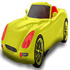 Red seater car coloring jeu