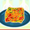 Red Pepper Frittata carrés jeu