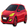Red Hyundai car coloring jeu