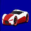 Concept de coloriage voiture de course rouge jeu