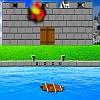 Attaque du château de bateau voile jeu