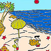 Sandcastles on the beach coloring jeu