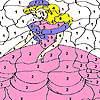 Shy princess coloring jeu