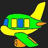 Coloriage avion spécial jeu
