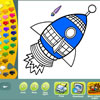 Space coloring pages jeu